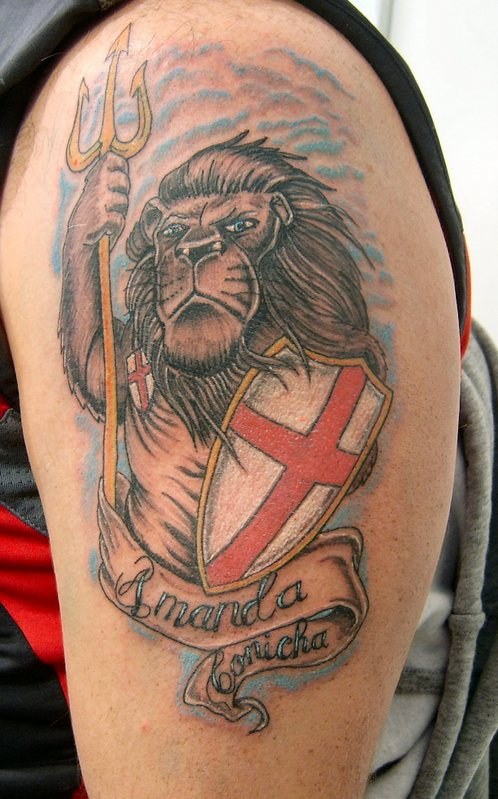 England Flag Tattoo Designs