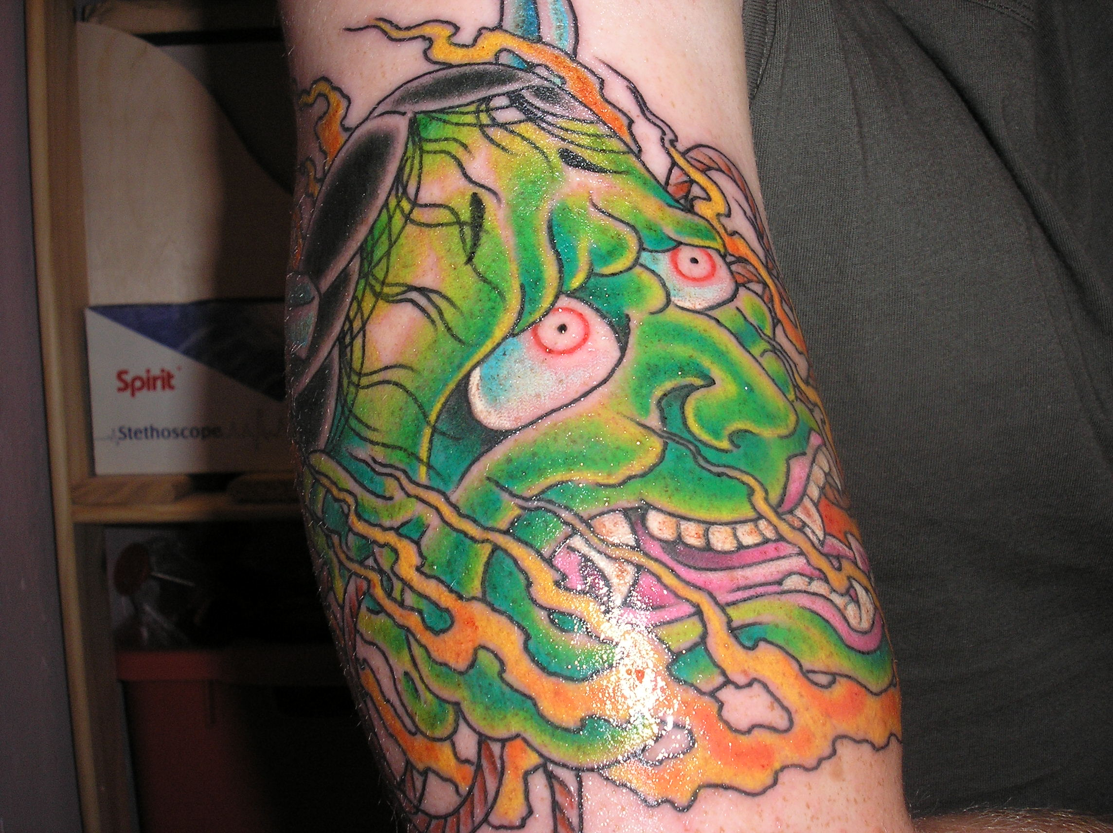 ... , henya mask Tattoos, , Japanese, henya mask Tattoo Pictures